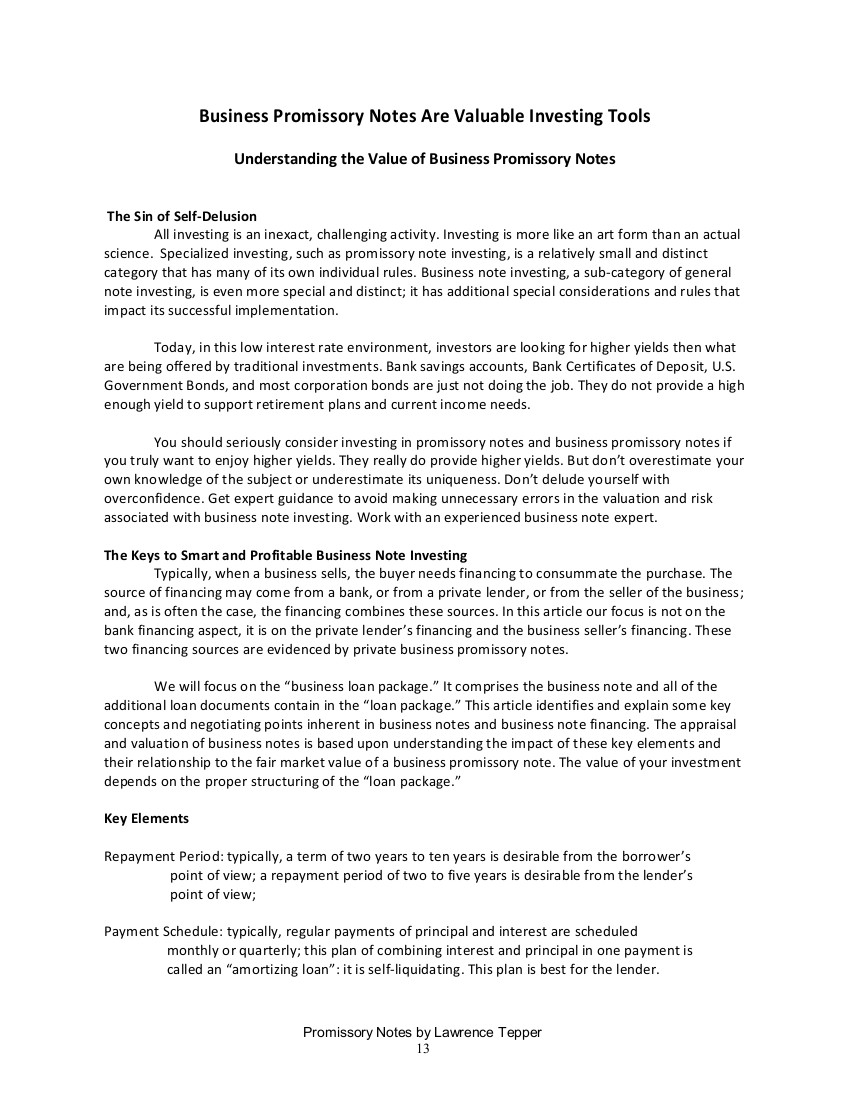 Promissory Notes by Larry Tepper -- New For 2017   Paper Source ...